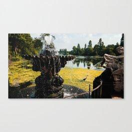 Hyde Park Fountain and Crane // London, UK Canvas Print