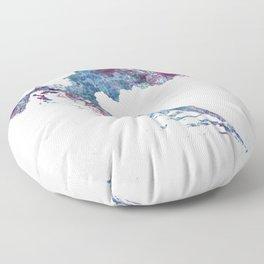 Croatia map Floor Pillow