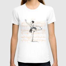 Ballerina print T-shirt