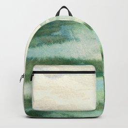 Emerald Sea Watercolor Print Backpack