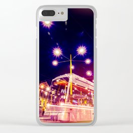 Night view of Station at  Graz , Austria. Clear iPhone Case