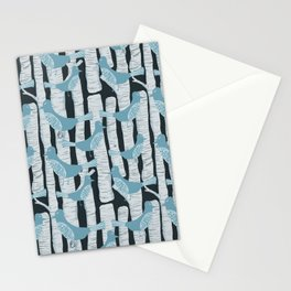 For the Birds and Birch Trees Stationery Cards