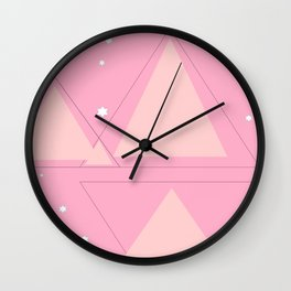 Winter Triangles Wall Clock