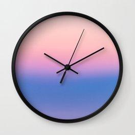 Ombre, Blue, Pink, Abstract, Nature, Art, Modern, Wall art Print Wall Clock