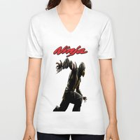 ninja V-neck T-shirts featuring Ninja by Afaalstore