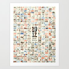 2012 Calendar // 366 Days // 366 Drawings Art Print