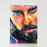 jared leto Stationery Cards featuring Jared Leto by Ilya Konyukhov