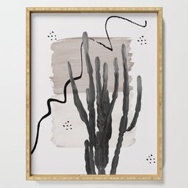 Cactus Abstract - Naturelle #1 #minimal #wall #decor #art #society6 Serving Tray