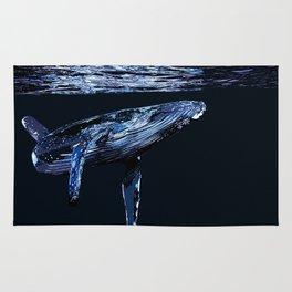 Dark Water Whale Rug
