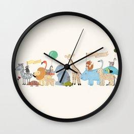 little safari parade Wall Clock