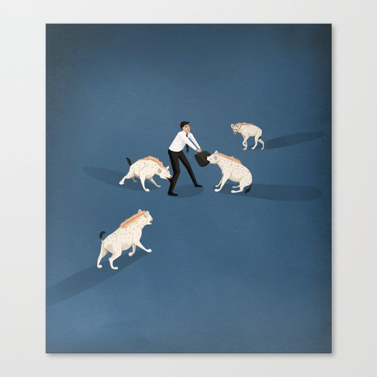 Mobbing at work Canvas Print