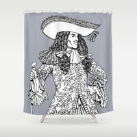 spanish Shower Curtains featuring Spanish Explorer by Art of Tom Tierney