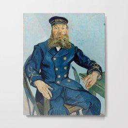 "Vincent Van Gogh ""Portrait of the Postman Joseph Roulin"" Metal Print"