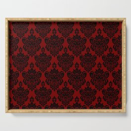 Crimson Damask Serving Tray