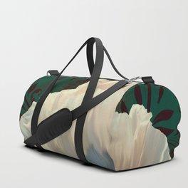 Poppies en Verdigris Duffle Bag