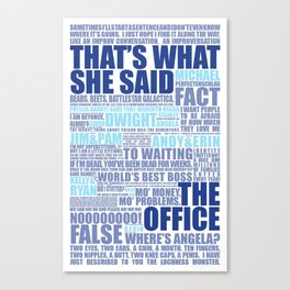 The Office Blue Canvas Print