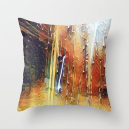 Raindrops Running Down The Window Throw Pillow
