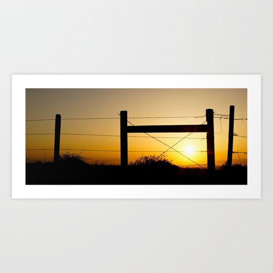 Wyoming Sunset Art Print