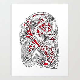 The Dreaming Warrior Art Print
