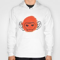 monkey Hoodies featuring Monkey by James White