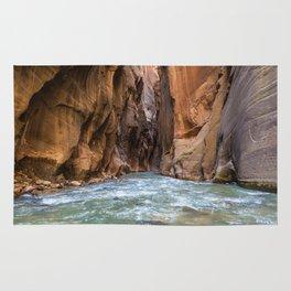 Swept Away (The Narrows, Zion National Park, Utah) Rug