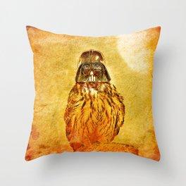 Dark Owl Throw Pillow