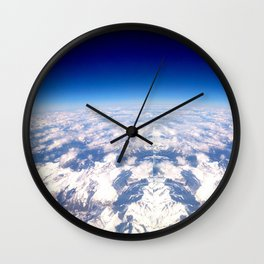 Alps from above Wall Clock