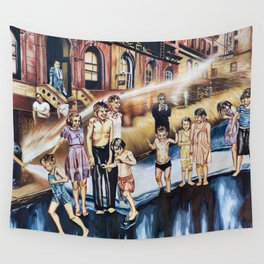 Weegee's Summer on the Lower East Side in color Wall Tapestry