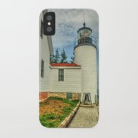 maine iPhone & iPod Cases featuring Maine Lighthouse by Raymond Earley