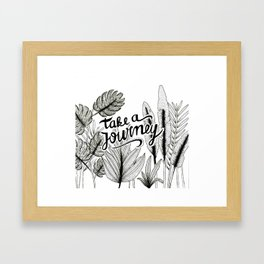 Take a journey Framed Art Print