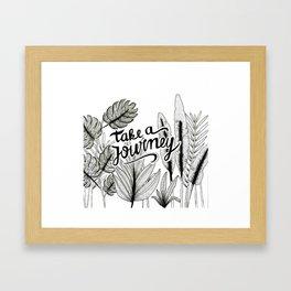Take a journey Framed Art Print