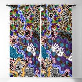 Authentic Aboriginal Art - Discovering Your Dreams Blackout Curtain