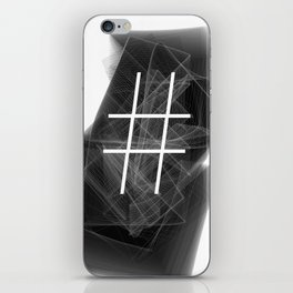 Hashtag typographic treatment.  Dark Math. # iPhone Skin