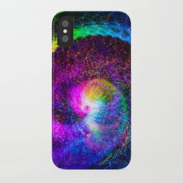 Spiral tie dye light painting iPhone Case
