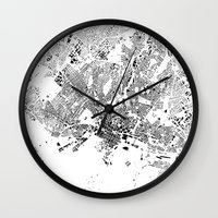 oslo Wall Clocks featuring OSLO by Maps Factory
