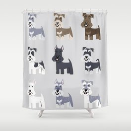schnauzer fondo colores Shower Curtain