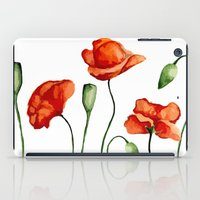 poppies iPad Cases featuring Poppies by Julia Badeeva