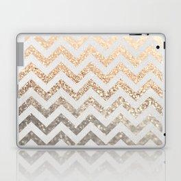 GOLD & SILVER CHEVRON Laptop & iPad Skin