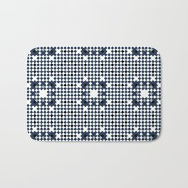 ARCHITECT steel blue, black, white check graph pattern design Bath Mat