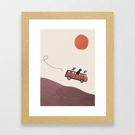 Adventure gang Framed Art Print
