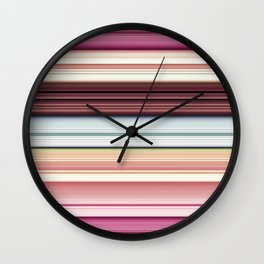 Sandwich cookie stripes Wall Clock