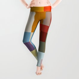 Native Shade - Colorful Decorative Abstract Art Pattern Leggings