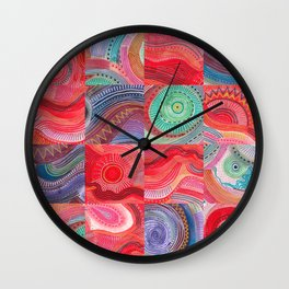 repetitive moments in air Wall Clock