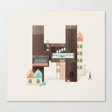 Resort Type - Letter H Canvas Print