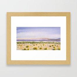 Mojave Desert Framed Art Print