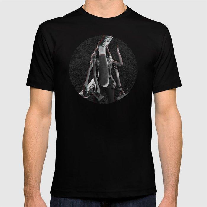 Build a Woman - Cut and Glue · Dizzy Miss Lizzy · Night · Crop Circle T-shirt
