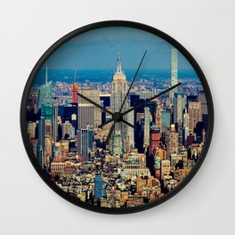 NYC Cityscape (Color) Wall Clock