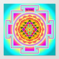 chakra Canvas Prints featuring Shri Chakra by Artisticcreationsusa