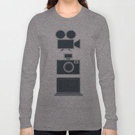 Multimedia vertical Long Sleeve T-shirt