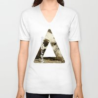 bastille V-neck T-shirts featuring Bastille - Skulls by Thafrayer